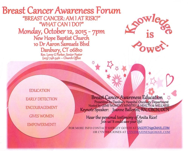 Free Breast Cancer Forum for Women November 7 2015