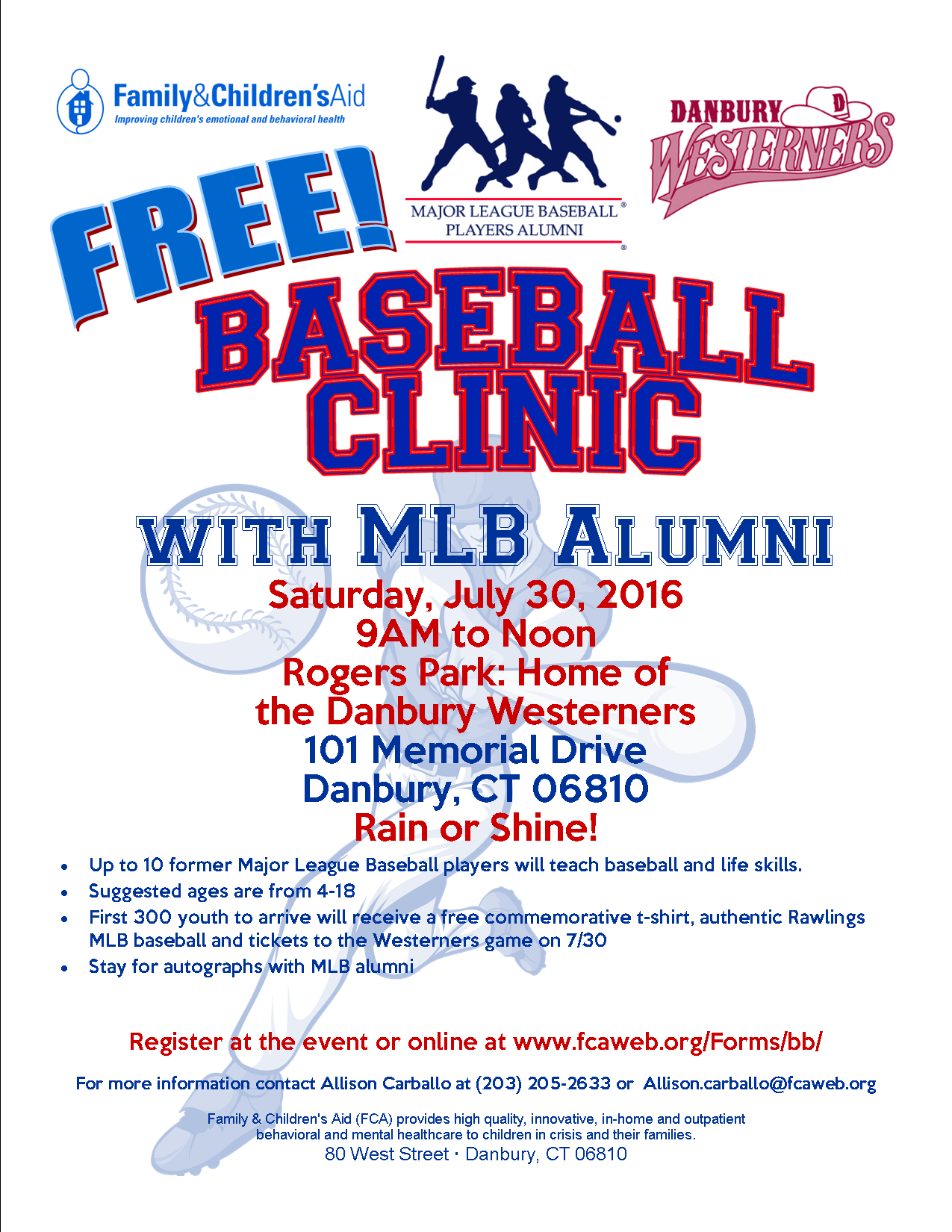 FREE Youth Baseball Clinic