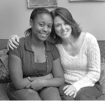 Kyesha King, 16, left, has been helped by her relationship with Kristen Burns.
